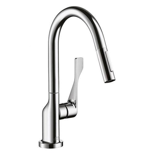 Axor Citterio Prep Single-Handle Pull-Down Sprayer Kitchen Faucet in Chrome 576111