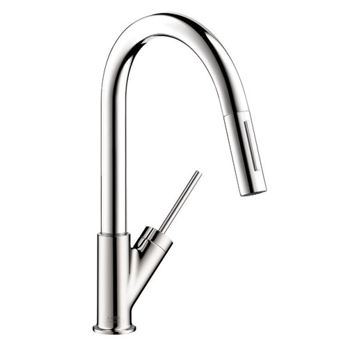 Axor Starck Prep Single-Handle Pull-Down Sprayer Kitchen Faucet in Chrome 614967