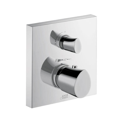 Axor Starck Organic 2-Handle Thermostatic Shower Faucet Trim Kit in Chrome (Valve Not Included) 632770