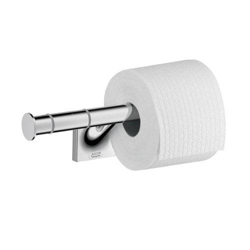 Axor Starck Organic Double Post Toilet Paper Holder in Chrome 634047