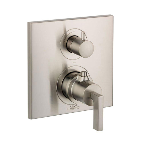 Axor Citterio 2-Handle Thermostatic Volume Control Valve Trim Kit in Brushed Nickel (Valve Not included) 669818