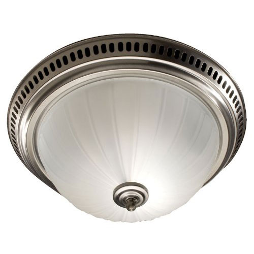 Broan 741SN Satin Nickel Ceiling Mount Bathroom Exhaust Vent Fan with Light