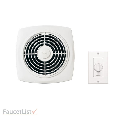 Broan 509 White Square Very Powerful 180 Cfm Through Wall