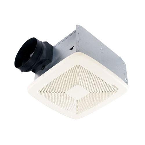 Broan QTXE110 Powerful 110 CFM Ultra Silent White Bath Ventilation Exhaust Fan