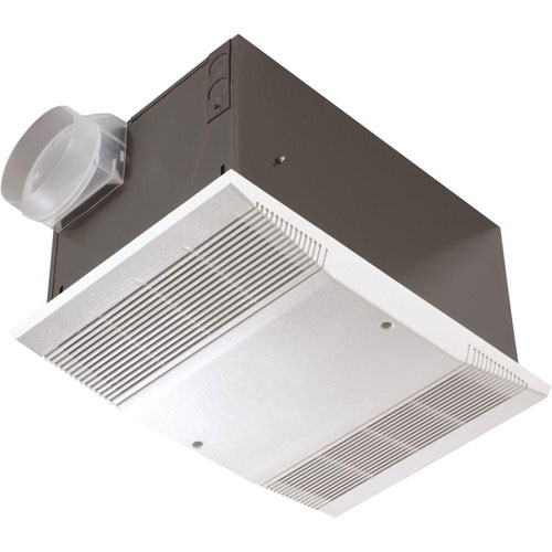 Nutone 70 CFM Ceiling Exhaust Fan with 1500-Watt Heater and Wall Switch 608080