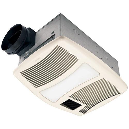 Nutone QTXN110HFLT High Power 110CFM Bath Fan with Heater and Fluorescent Light