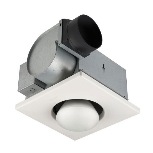 Broan 162 Quiet Bathroom Ventilation Fan with 250W Infrared Bulb Heater Light