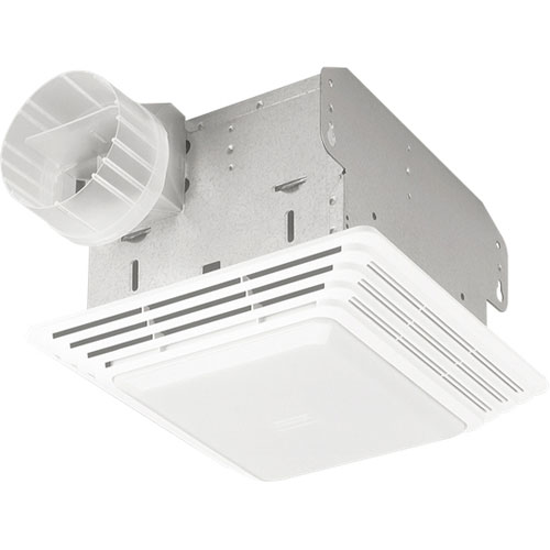 Broan 680 White 100 CFM Bathroom Vent Ceiling Fan with Incandescent Light