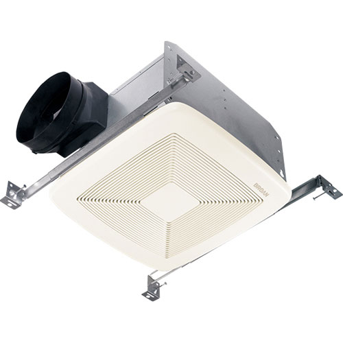 Broan QTXE050 Energy Star 50 CFM Nearly Silent 0.3 Sone Bathroom Ventilation Fan