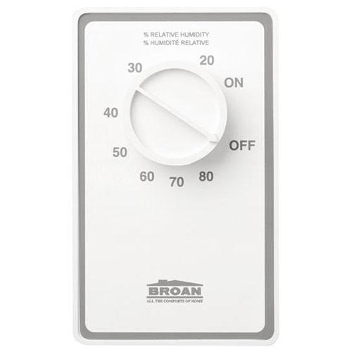 Broan DH100W Dehumidistat 24V/120V Bath Ventilation Fan Control