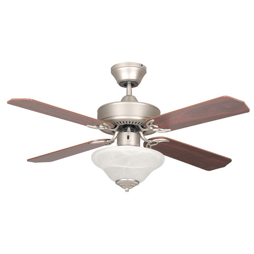 "Concord Fans 42"" Satin Nickel Modern Small Ceiling Fan"