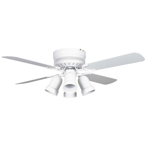 Concord Fans 42 Small White Low Profile Hugger Ceiling
