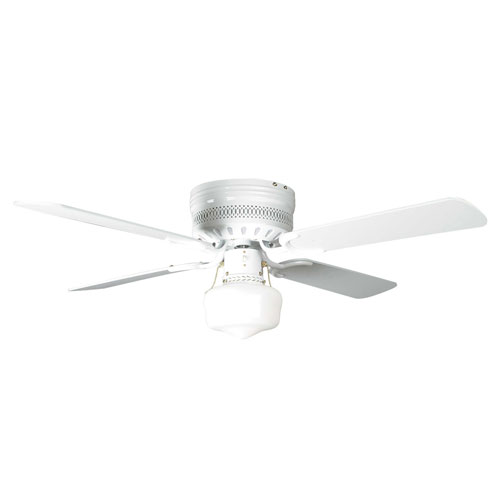 Low profile small ceiling fan with light : Concord fans quot small white low profile hugger ceiling