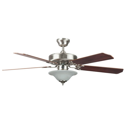 """Concord Fans 52"""" Heritage Square Stainless Steel Ceiling"""