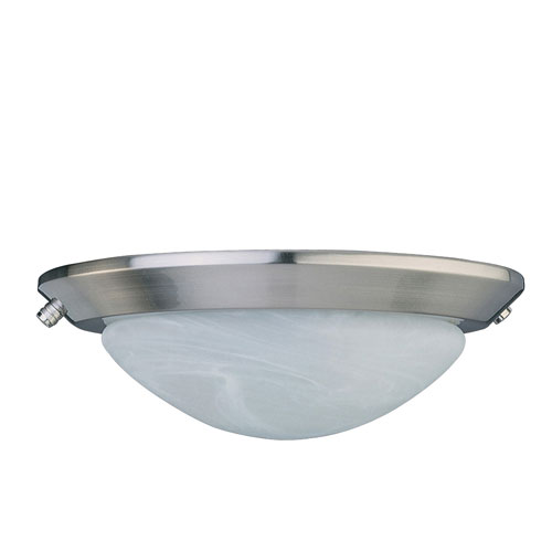 Concord Fans 2 Light Stainless Steel Finish Low Profile Ceiling Fan Light Kit