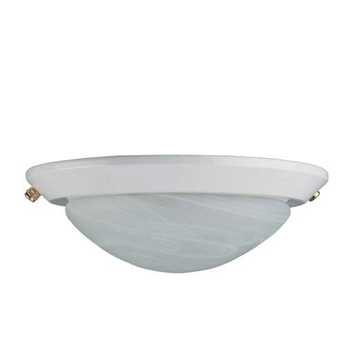 Concord Fans 2 Light White Finish Low Profile Ceiling Fan Light Kit
