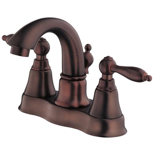 Danze Fairmont Oil Rubbed Bronze Two Handle Centerset Bathroom Faucet with Drain