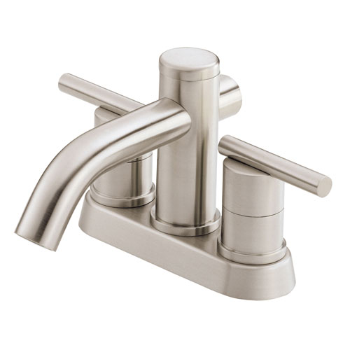 Danze Parma Brushed Nickel 2 Cylindrical Handle Centerset Bathroom Sink Faucet