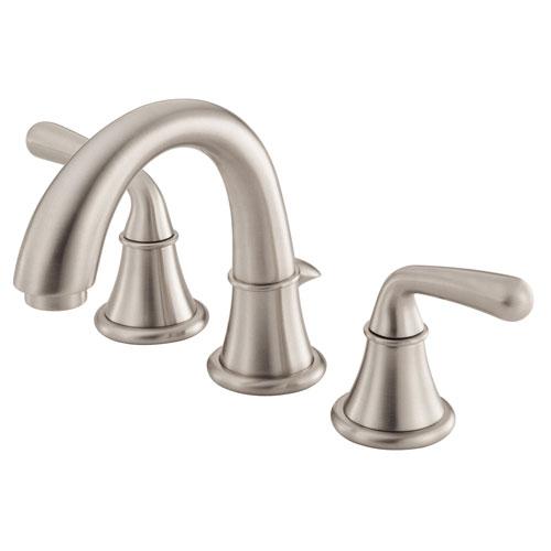 Danze Bannockburn Brushed Nickel Two Handle Mini Widespread Bathroom Sink Faucet