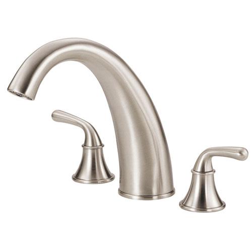 Danze Bannockburn Brushed Nickel HiArch Spout Widespread Roman Tub Filler Faucet INCLUDES Rough-in Valve