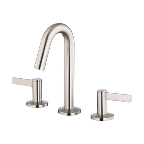 Danze Amalfi Brushed Nickel Trimline Slim Hi Arch Widespread Bathroom Faucet