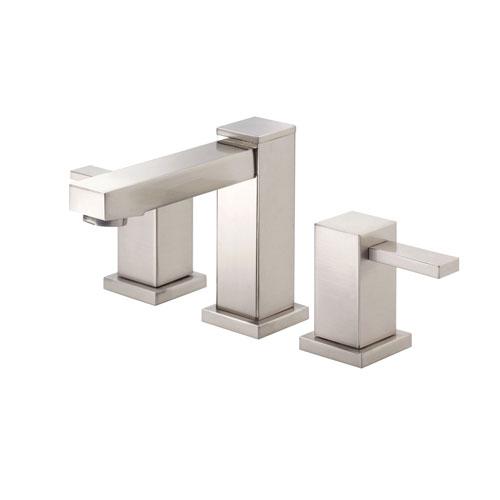 Danze Reef Brushed Nickel Modern Square 2 Handle Widespread Bathroom Sink Faucet