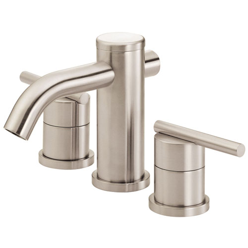 Danze Parma Brushed Nickel Cylindrical Spout Widespread Bathroom Sink Faucet