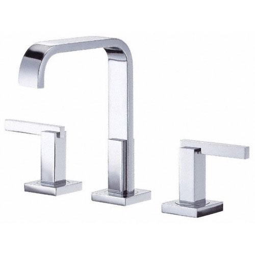 Danze Sirius Chrome Modern Trimline High Spout Widespread Bathroom Faucet