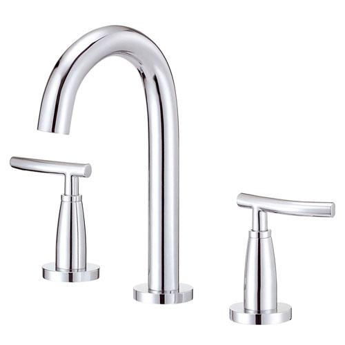 Danze Sonora Chrome Trimline Slim handle Widespread Bathroom Sink Faucet