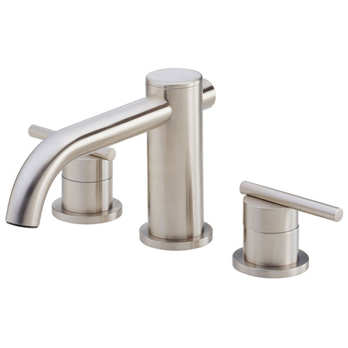 Danze Parma Brushed Nickel Cylindrical Widespread Roman Tub Filler Faucet INCLUDES Rough-in Valve