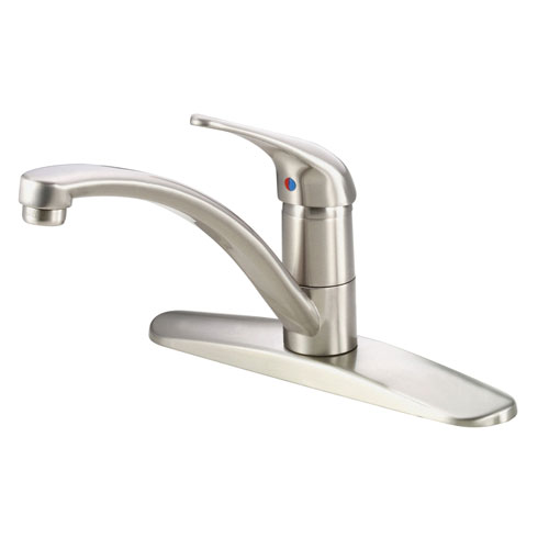 Danze Melrose Stainless Steel Simple Basic Single Handle Kitchen Faucet