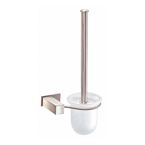Danze Sirius Modern Wall Mount Brushed Nickel Toilet Brush Holder