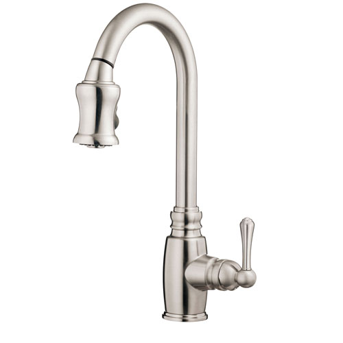Danze Opulence Stainless Steel Single Handle Pull-Down Spray Kitchen Faucet