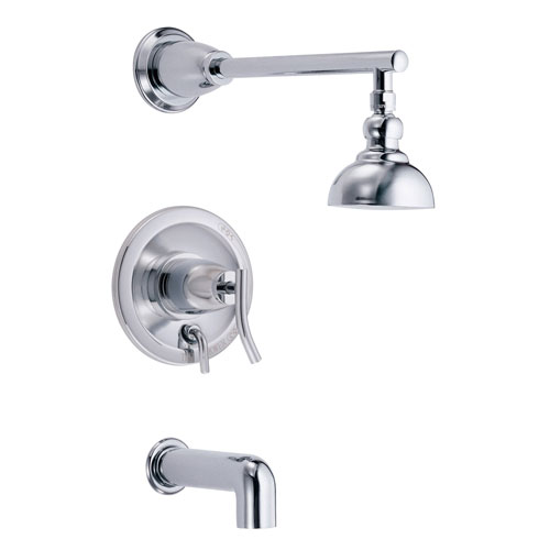 Danze Sonora Chrome Single Handle Tub and Shower Combo Faucet INCLUDES Rough-in Valve