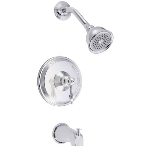Danze Fairmont Chrome Single Lever Handle Tub and Shower Combination Faucet INCLUDES Rough-in Valve
