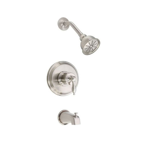 Danze Prince Brushed Nickel Single Handle Pressure Balance Tub and Shower Combination Faucet INCLUDES Rough-in Valve