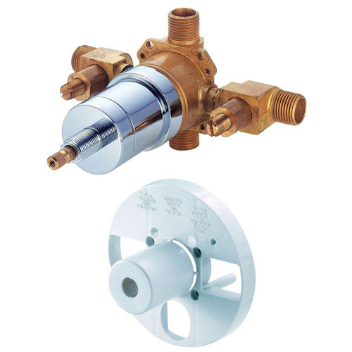Danze Single-Handle Tub and Shower Pressure Balance Valve with Screwdriver Stops in Rough Brass 287181