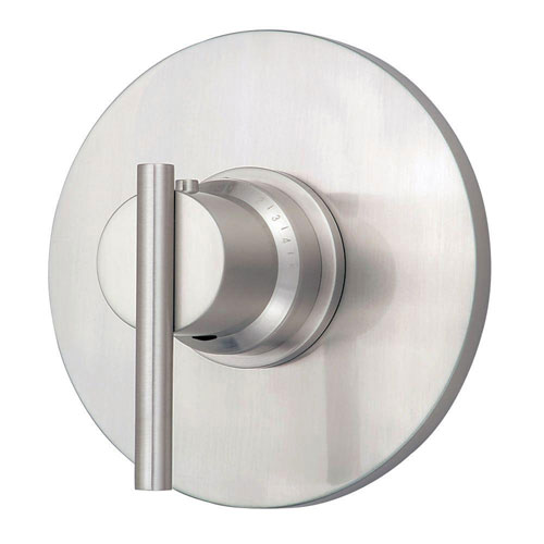 Danze Parma 3/4 inch Thermostatic Shower Trim Only in Brushed Nickel (Valve Not Included) 472708