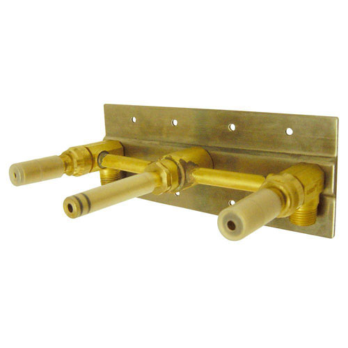 Danze 2-Handle Wall Mount Rough-In Valve with Mounting Plate in Rough Brass 477423