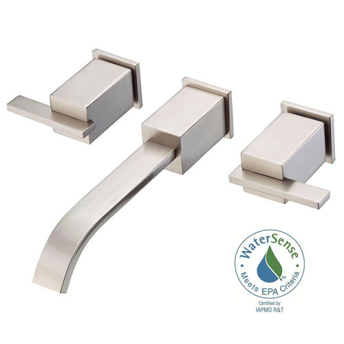 Danze Sirius Trim Only 2-Handle Wall Mount Lavatory Faucet in Brushed Nickel 553731