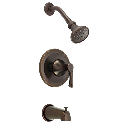 Danze Antioch 1-Handle Tub and Shower Faucet Trim Kit in Tumbled Bronze (Valve Not Included) 634459
