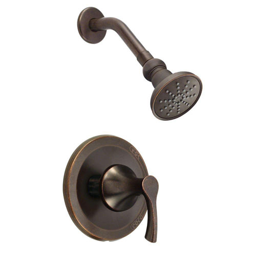 Danze Antioch 1-Handle Shower Faucet Trim Kit in Tumbled Bronze (Valve Not Included) 634463
