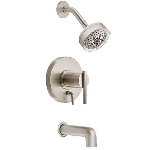 Danze Parma 1-Handle Pressure Balance Tub and Shower Faucet Trim Kit in Brushed Nickel (Valve Not Included) 634471