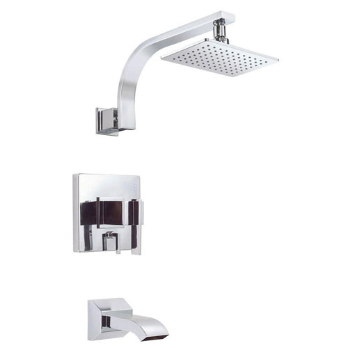 Danze Sirius 1-Handle Pressure Balance Tub and Shower Faucet Trim Kit in Chrome (Valve Not Included) 634486