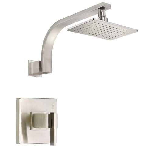 Danze Sirius 1-Handle Pressure Balance Shower Faucet Trim Kit in Brushed Nickel (Valve Not Included) 634487