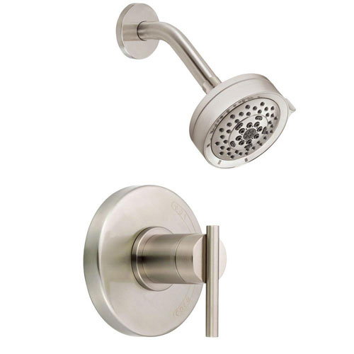 Danze Parma 1-Handle Pressure Balance Shower Faucet Trim Kit in Brushed Nickel (Valve Not Included) 635287