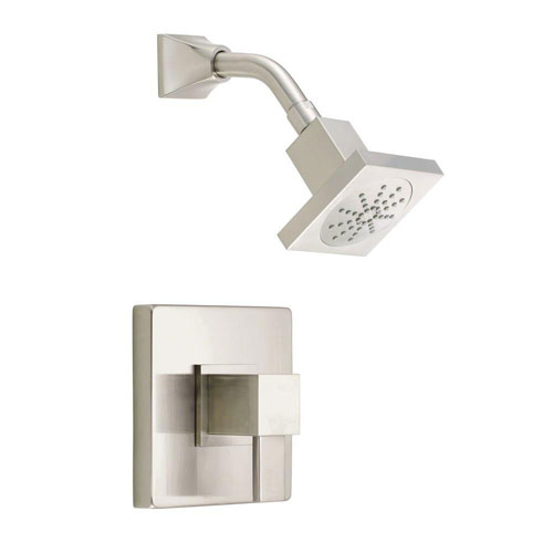 Danze Reef 1-Handle Pressure Balance Shower Faucet Trim Kit in Brushed Nickel (Valve Not Included) 635289