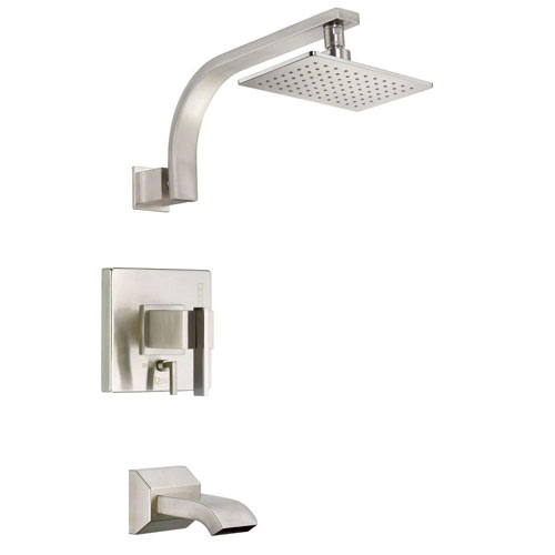 Danze Sirius 1-Handle Pressure Balance Tub and Shower Faucet Trim Kit in Brushed Nickel (Valve Not Included) 635302