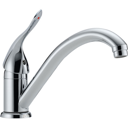 Delta Classic One Hole Chrome Classic Single Handle Kitchen Faucet 540327