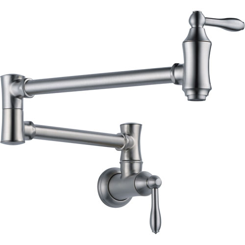 Delta Traditional Kitchen Wall Mounted Arctic Stainless Pot filler Faucet 628907